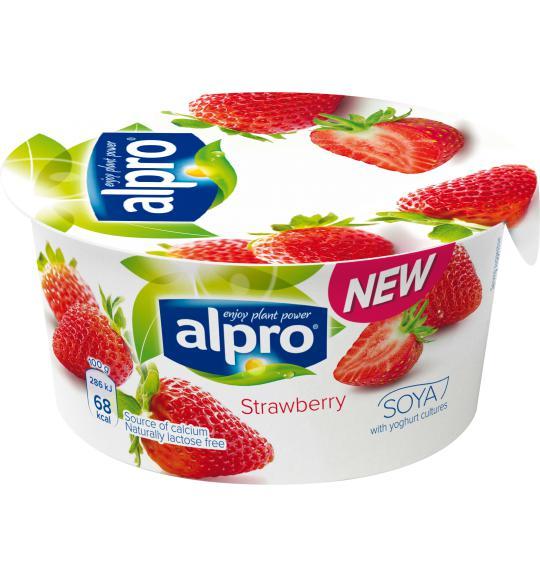 Truskawkowe Alpro sojowe z kulturami bakterii jogurtowych