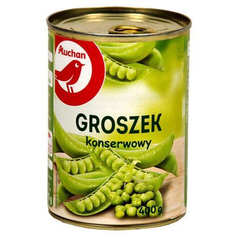 Auchan - Groszek konserwowy