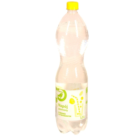 Auchan - Woda aromatyzowana gazowana, cytryna