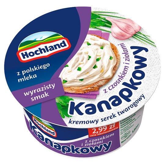 Hochland Kanapkowy serek kremowy z czosnkiem i ziołami