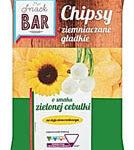 Snack Bar Chipsy ziemniaczane gładkie o smaku zielonej cebulki