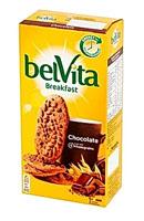 belVita Breakfast Ciastka zbożowe o smaku kakaowym z kawałkami czekolady