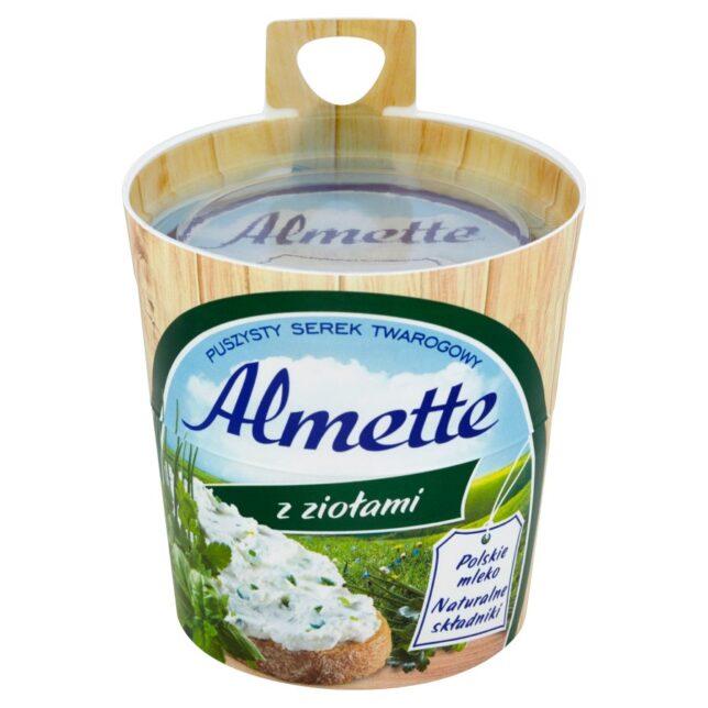 Almette z ziołami Puszysty serek twarogowy
