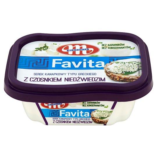 Mlekovita Favita Serek kanapkowy typu greckiego z czosnkiem niedźwiedzim