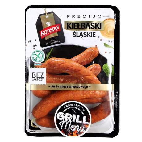 Konspol - Kiełbaski śląskie bez glutenu,bez laktozy
