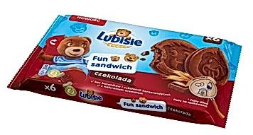 Lubisie Fun Sandwich Ciastka biszkoptowe przekładane nadzieniem kakaowym czekolada