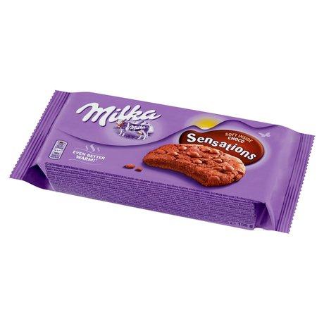 Milka - Sensation ciastka kakaowe z kawałkami czekolady