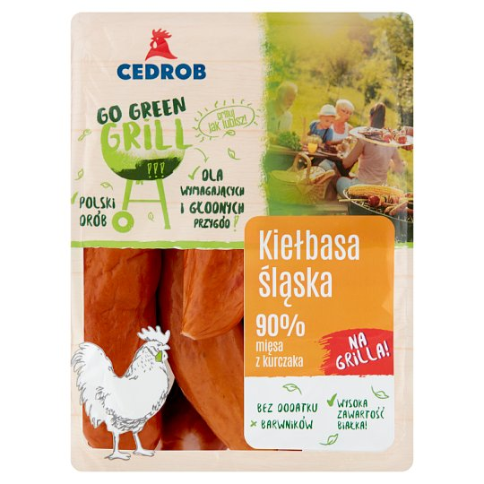 Cedrob Go Green Grill Kiełbasa śląska z kurczaka
