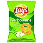 Lay's - Chipsy ziemniaczane karbowane o smaku zielonej cebulki
