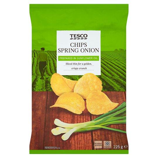Tesco Chipsy ziemniaczane o smaku zielonej cebulki