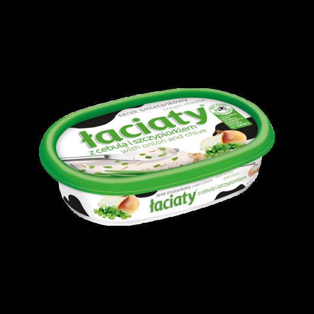Łaciaty Serek śmietankowy z cebulą i szczypiorkiem 135 g