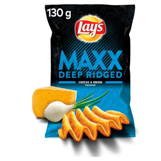 Lay's Maxx Chipsy ziemniaczane o smaku sera i cebulki