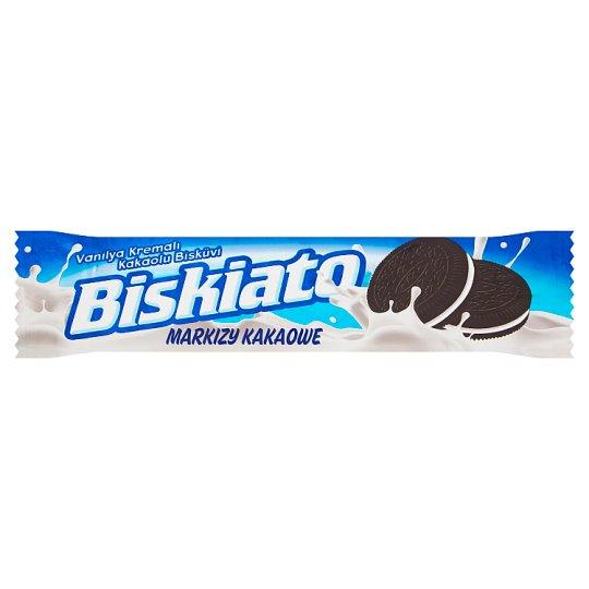 Simsek Biskiato Markizy kakaowe z nadzieniem o smaku waniliowym