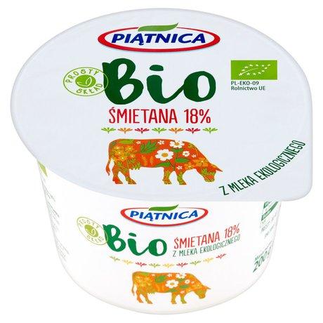 Piątnica - Bio śmietana 18% do zup sosów i sałatek