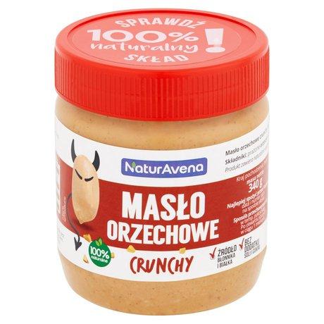 NaturAvena - Masło orzechowe crunchy