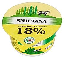 Mlekpol, Śmietana 18%