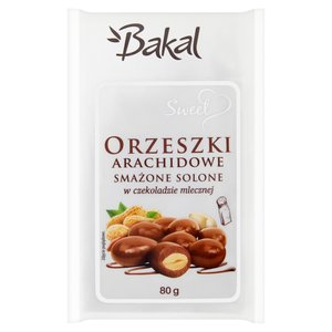 Bakal Sweet Orzeszki Arachidowe Smażone Solone W Czekoladzie Mlecznej
