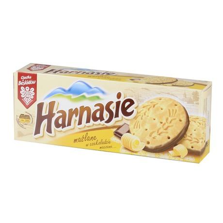 Harnasie - ciastka maślane w czekoladzie maczane