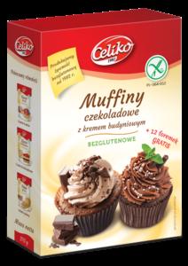 Muffiny czekoladowe z kremem budyniowym - bezglutenowe