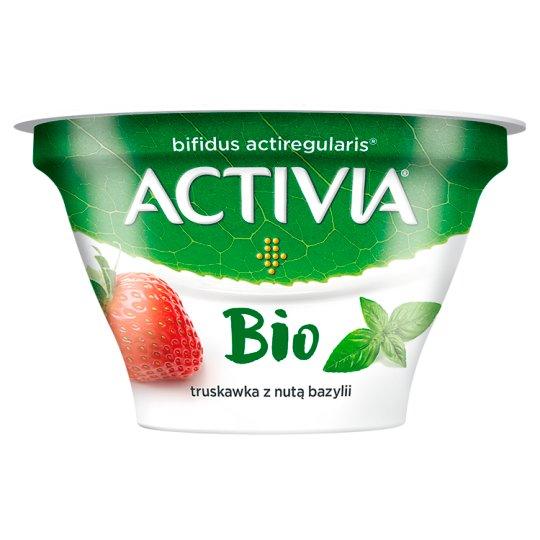 Danone Activia Bio Jogurt truskawka z nutą bazylii