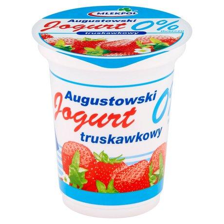 Mlekpol - Jogurt truskawkowy 0% tłuszczu