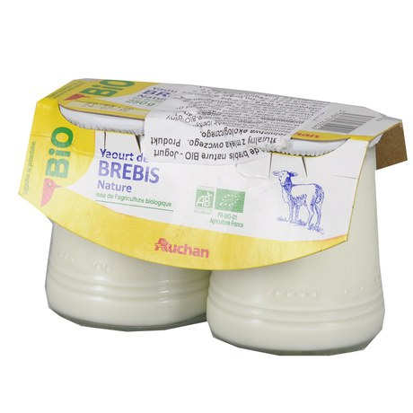 Auchan - Jogurt Bio naturalny z mleka owczego