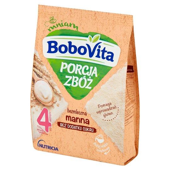 BoboVita Porcja Zbóż Kaszka bezmleczna manna po 4 miesiącu