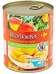 Carrefour Brzoskwinie premium w syropie połówki