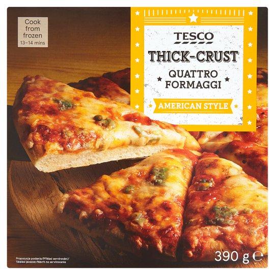 Tesco American Style Thick-Crust Quattro Formaggi Pizza