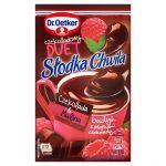 Dr. Oetker Słodka Chwila Czekoladowy Duet Czekolada & Malina Budyń z płatkami czekolady