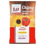 Snack Bar Chipsy ziemniaczane gładkie o smaku papryki