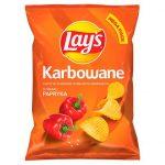 Lay's - Chipsy ziemniaczane karbowane o smaku papryki