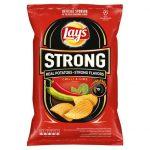 Lay's - Strong Chipsy ziemniaczane karbowane o smaku ostrego chilli i limonki
