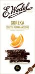 E. WEDEL Premium Czekolada gorzka z cząstkami pomarańczowymi