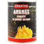 TROPICO Ananas kawałki w lekkim syropie