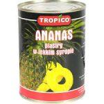 TROPICO Ananas plastry w lekkim syropie