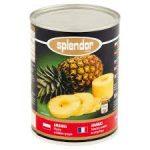 SPLENDOR Ananas plastry w lekkim syropie