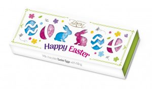 Jajka Baron czekoladowe nadziewane Happy Easter kartonik