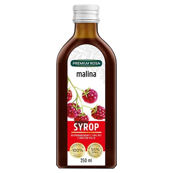 Premium Rosa Syrop malina